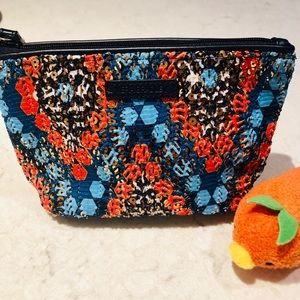 Vera Bradley Tangerine and Aqua Sequined Wristlet
